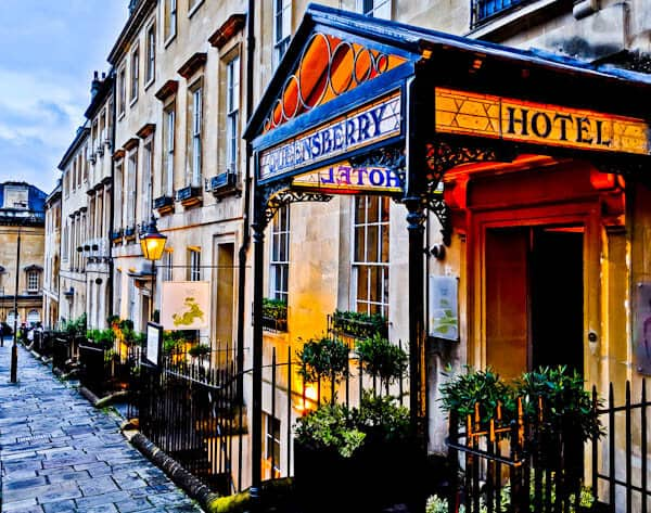 Queensberry Hotel in Bath - Travel Blogger Review - Location