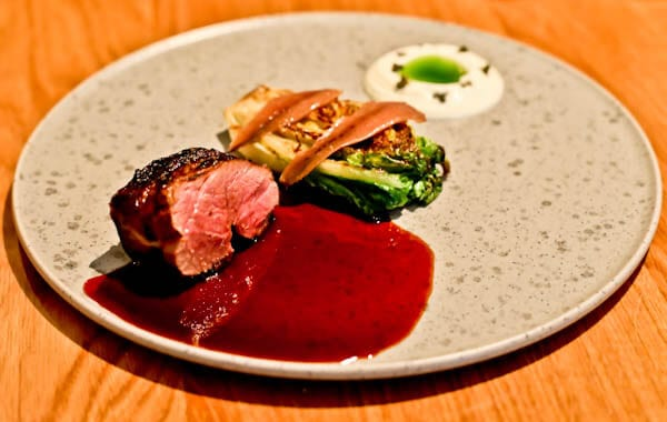 Queensberry Hotel in Bath - Travel Blogger Review - Olive Tree Restaurant - Lamb Rump