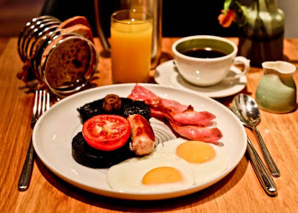 Queensberry Hotel in Bath - Travel Blogger Review - Breakfast Menu