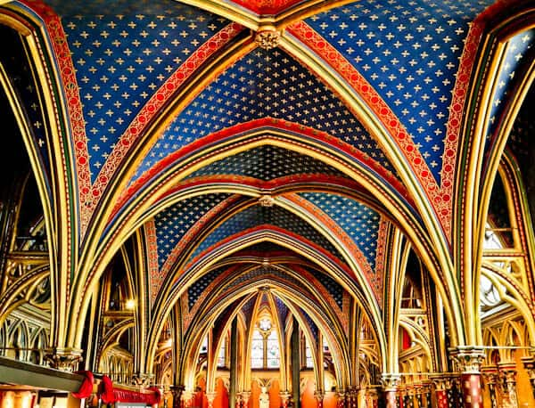 Visit Sainte Chapelle Paris - Lower Chapel Ceiling