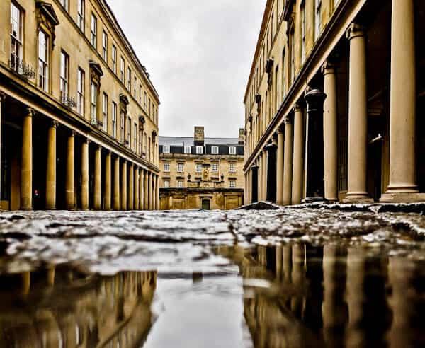 Bath in England - Roman Columns