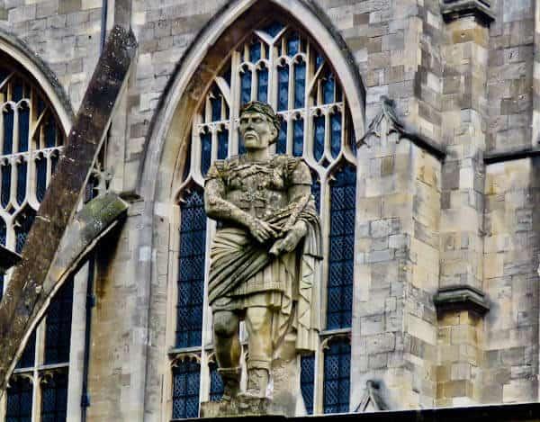 Bath in England - Roman Statues - Julius Caesar
