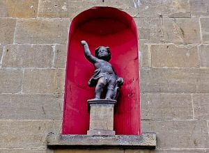 Bath in England - Statue of a boy