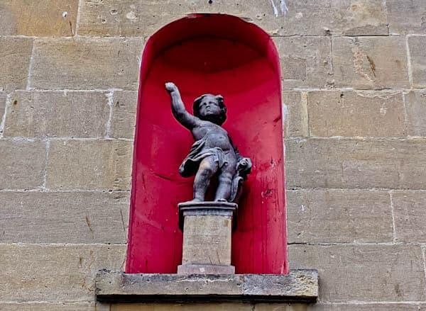 Bath in England - Statue of a boy