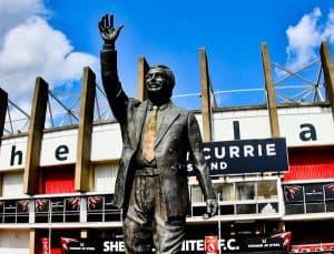 Sheffield United Stadium Tour - Bramall Lane - Derek Dooley Statue
