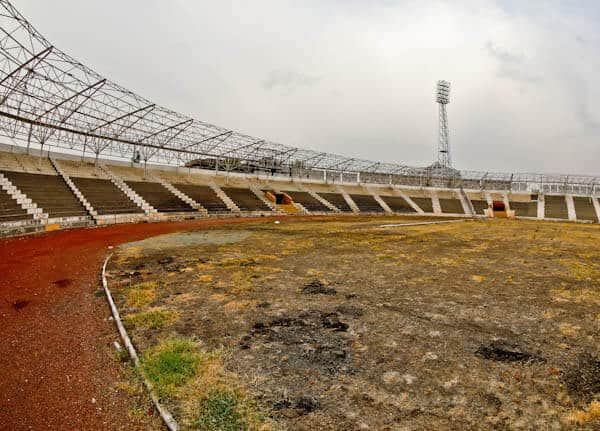 Gaziantepspor Abandoned Stadium - Pitch Side