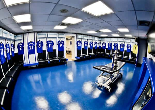 Goodison Park Stadium Tour - Everton FC - Home Team Dressing Room