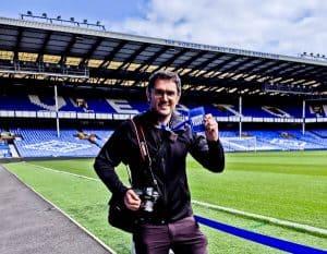 Goodison Park Stadium Tour - Everton FC - Pitch Side
