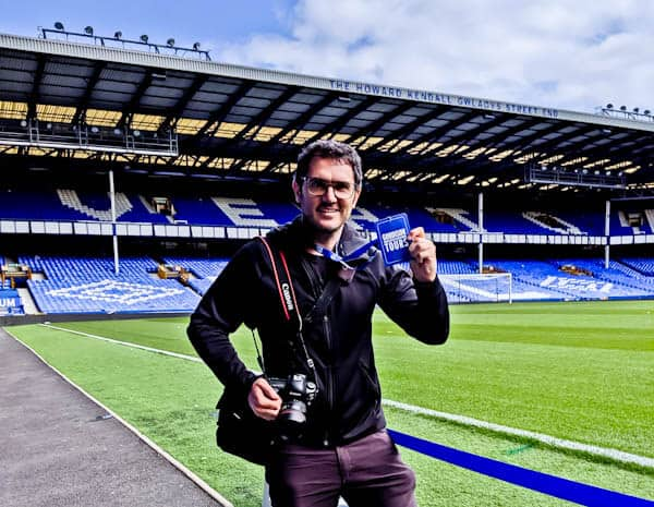 Goodison Park Stadium Tour - Everton FC - Pitch Side