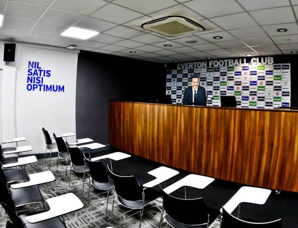 Goodison Park Stadium Tour - Everton FC - Press Room