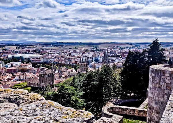 Panoramic views from Burgos Castle