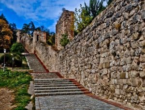 Ascend the stairs to Burgos Castle
