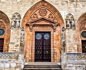 Burgos Cathedral Doors and Stone Altarpieces