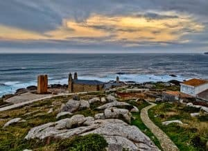 Sunset and Sunrise Locations in Muxia Spain