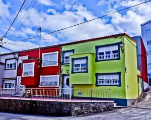 Colorful Spanish Houses