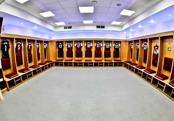 Aston Villa Home Team Dressing Room