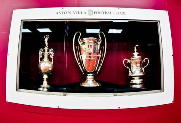 Champions League Trophy at Villa Park