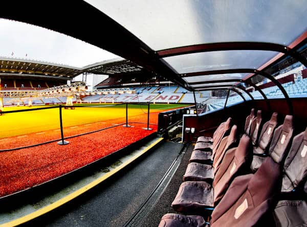 Villa Park Stadium - Pitchside and Dugouts
