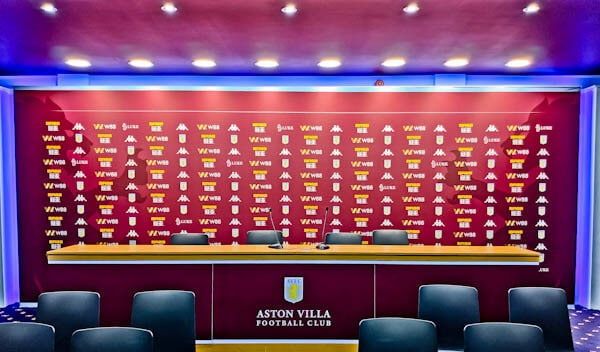Villa Park Stadium - Press Room