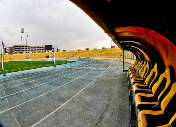 Dugout at Erbil Stadium, Kurdistan Region