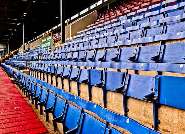 Wooden Seats at Turf Moor Stadium