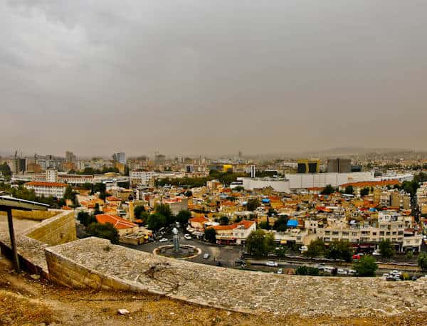 Panoramic City View from Gaziantep Castle