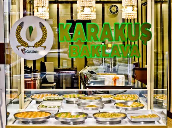 Karakus Baklava in Gaziantep Turkey