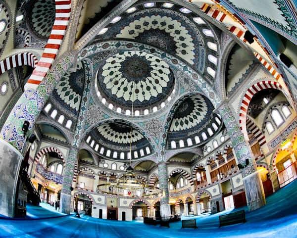 Hazreti Omer Mosque Interior - Van Turkey