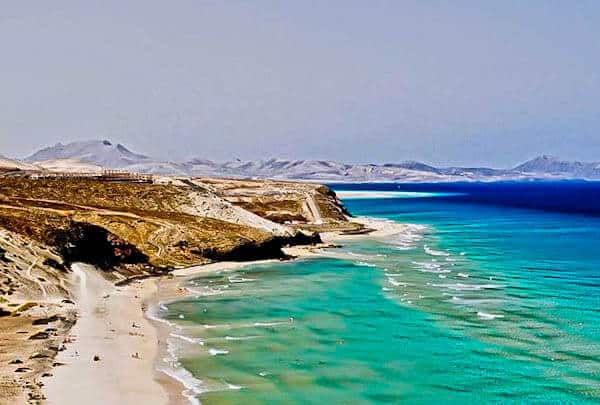White Sand Beaches on Fuerteventura