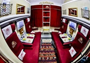 4 berth train compartment - Tehran to Mashad