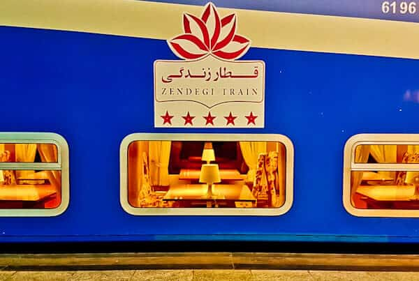 Dining Carriage on the Iranian night train