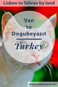 Van to Dogubeyazit Turkey
