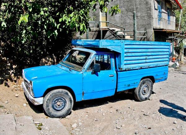 Classic Iranian Blue Truck - Zamyad Co