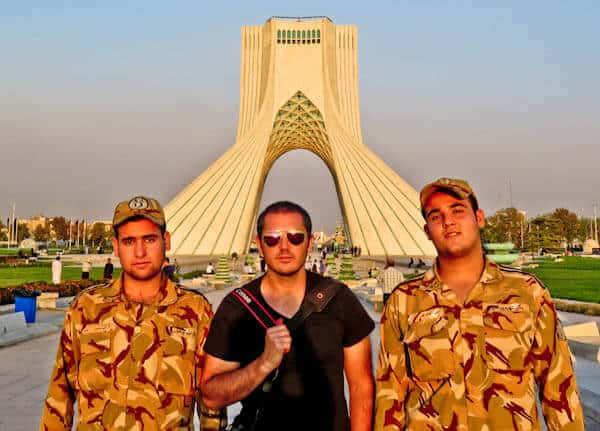 Iranian Soldiers at Azadi Tower