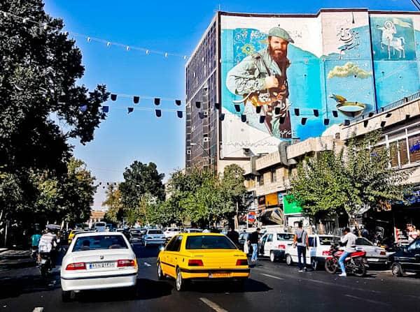 Street Art in Tehran Iran