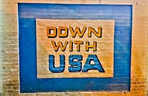 Down With USA - Art in Tehran