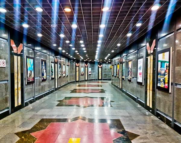 Tehran Underground Metro Train Station