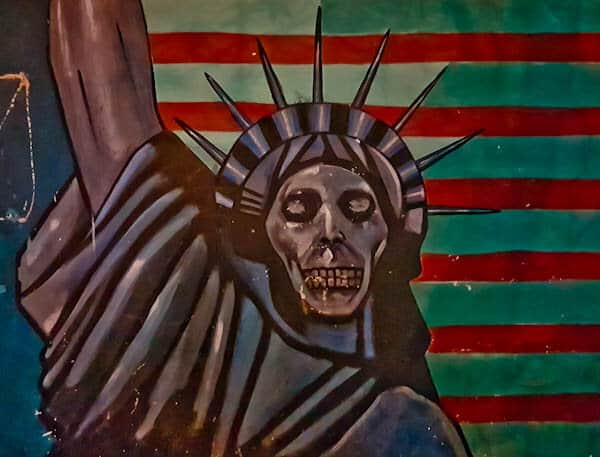 Statue of Liberty in Tehran Iran