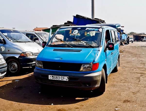Ziguinchor to Bissau shared minivan