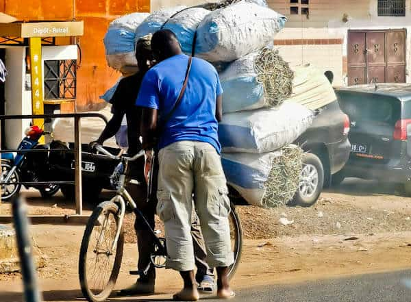 Bikes heading to Senegal from Guinea Bissau