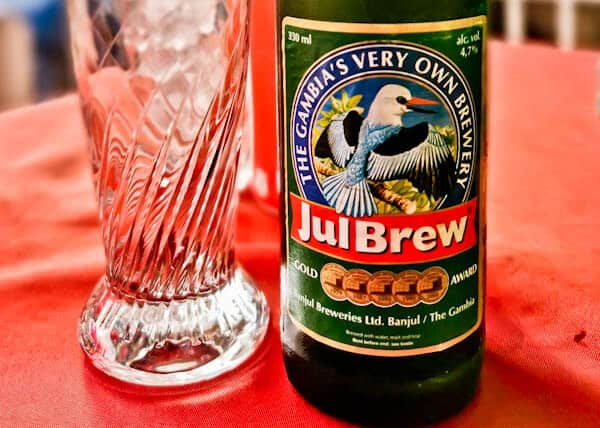 JulBrew beer in the Gambia