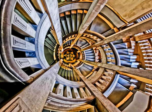 Spiral Staircase at Hannover New Town Hall