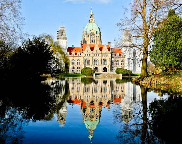 Hannover Town Hall Reflection