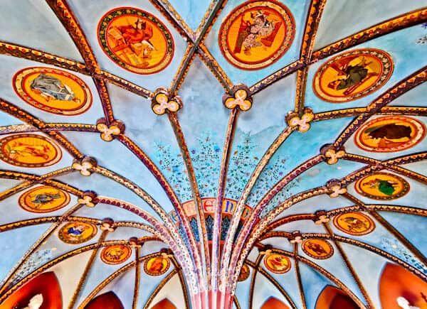 Ceiling of the Queen's Library at Marienburg Castle