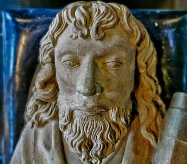 Close up of the Saint Matthias the Apostle Effigy