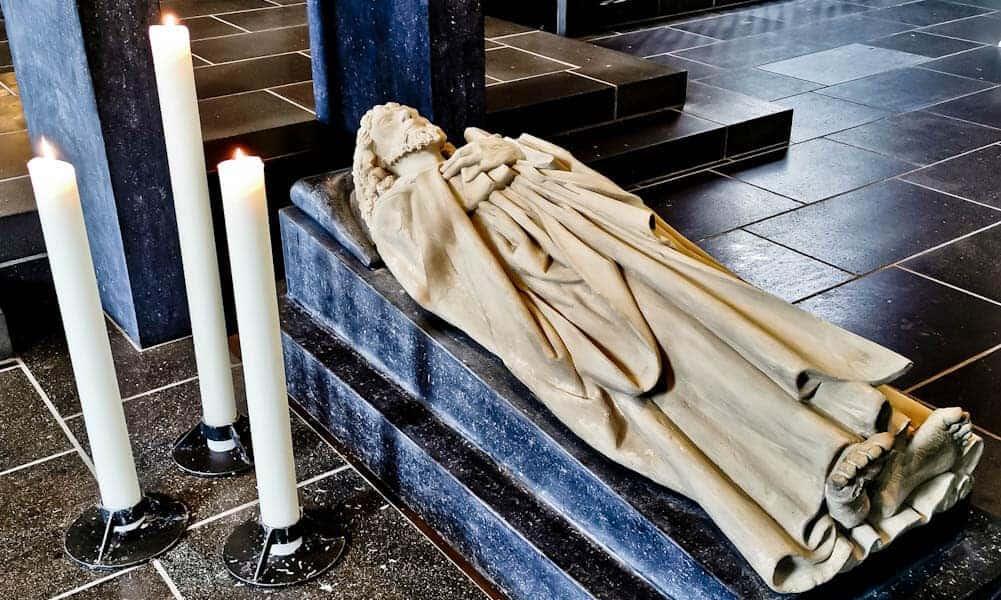 Inside St Matthias' Abbey Trier - Tomb of the Apostle