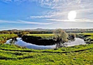 Horseshoe Bend in River Aire Skipton
