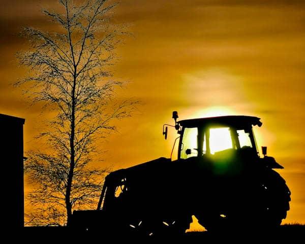 Tractor Sunrise in Carleton Skipton