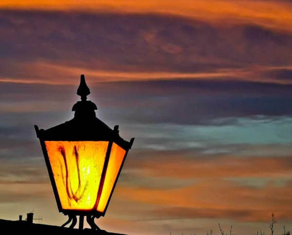 Lampshade at Sunrise in Skipton
