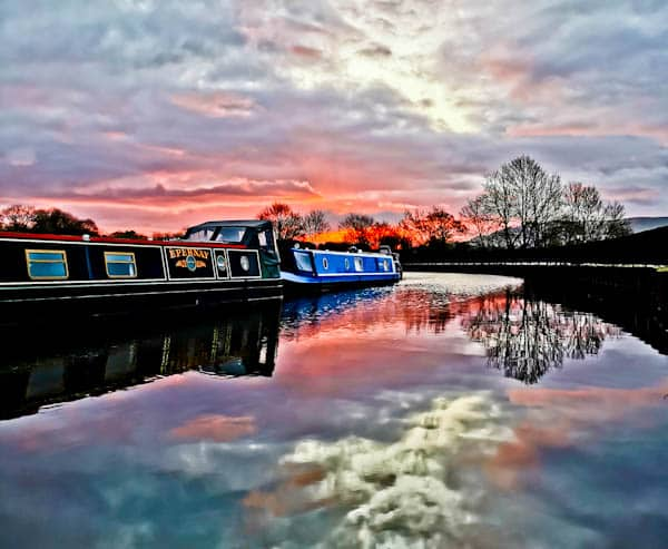 Sunrise over Leeds Liverpool Canal Skipton